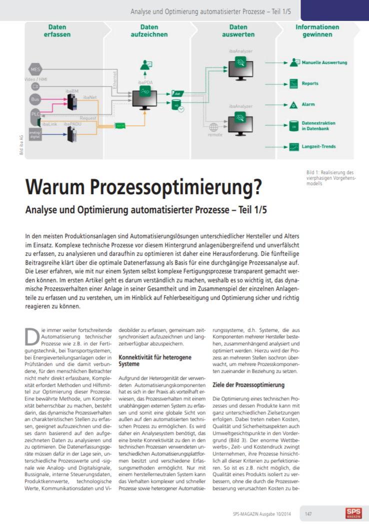Analyse und Optimierung automatisierter Prozesse
