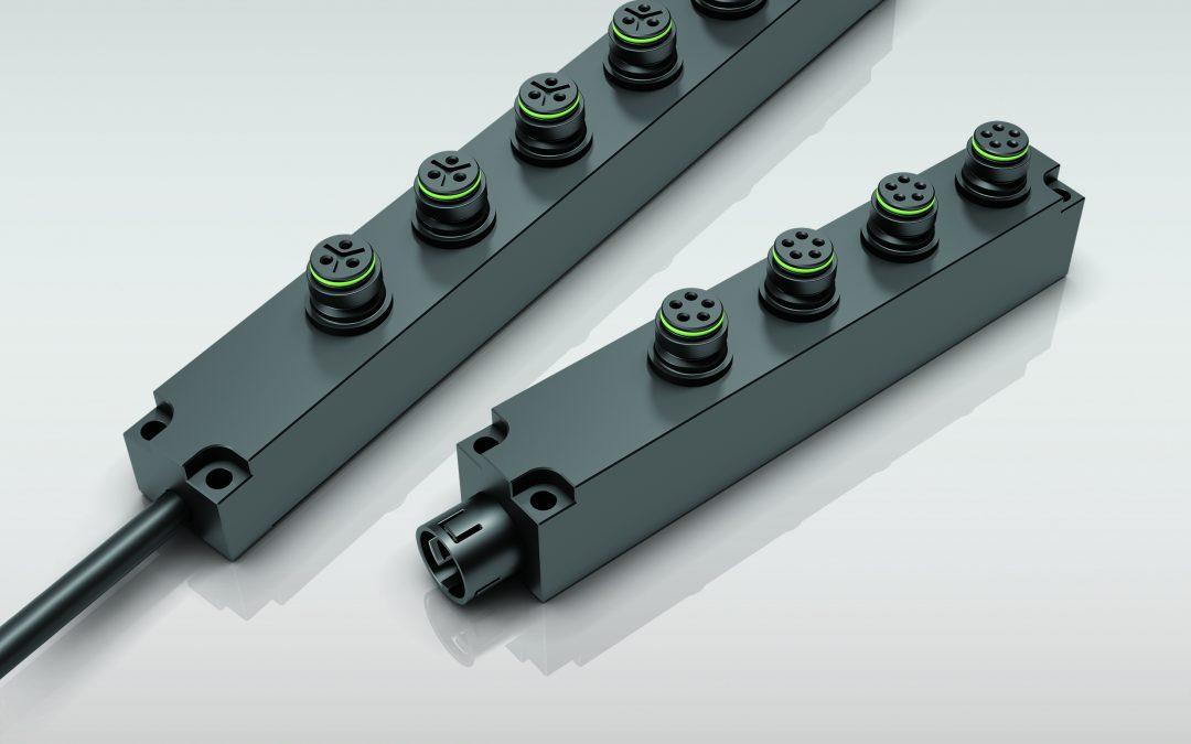 Vier- und Sechsfachverteiler für Rundsteckverbinder