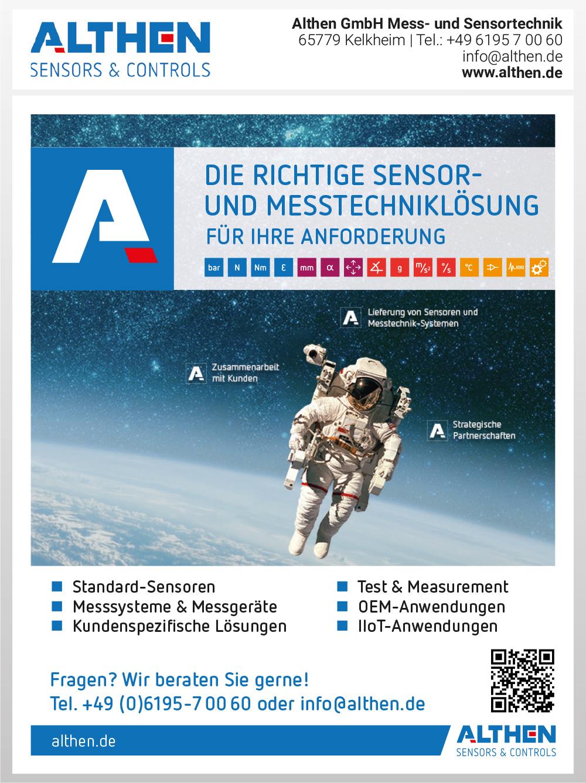 Produktübersicht – Althen GmbH Mess- und Sensortechnik