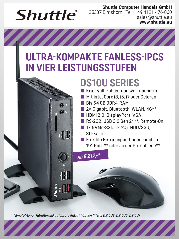 Produktübersicht – Shuttle Computer Handels GmbH