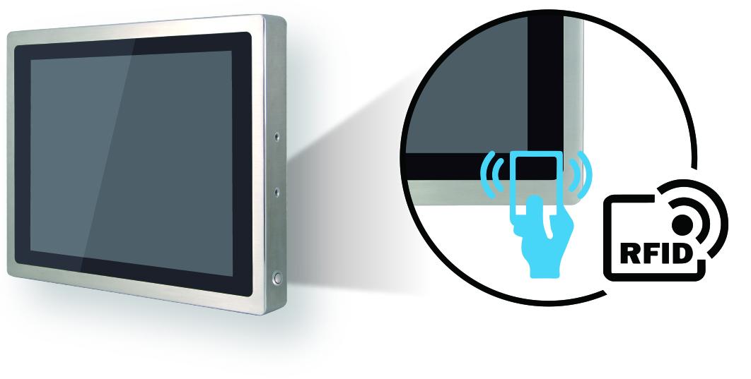 Touchscreen-PC mit RFID-Modul