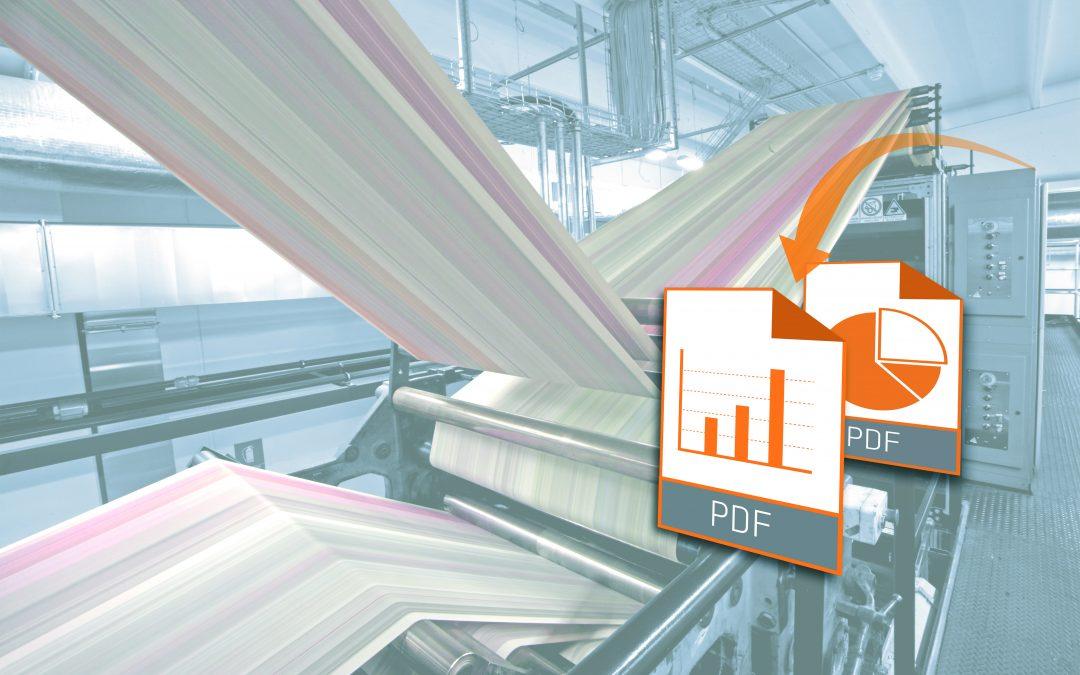Maschinendaten im PDF-Format generieren