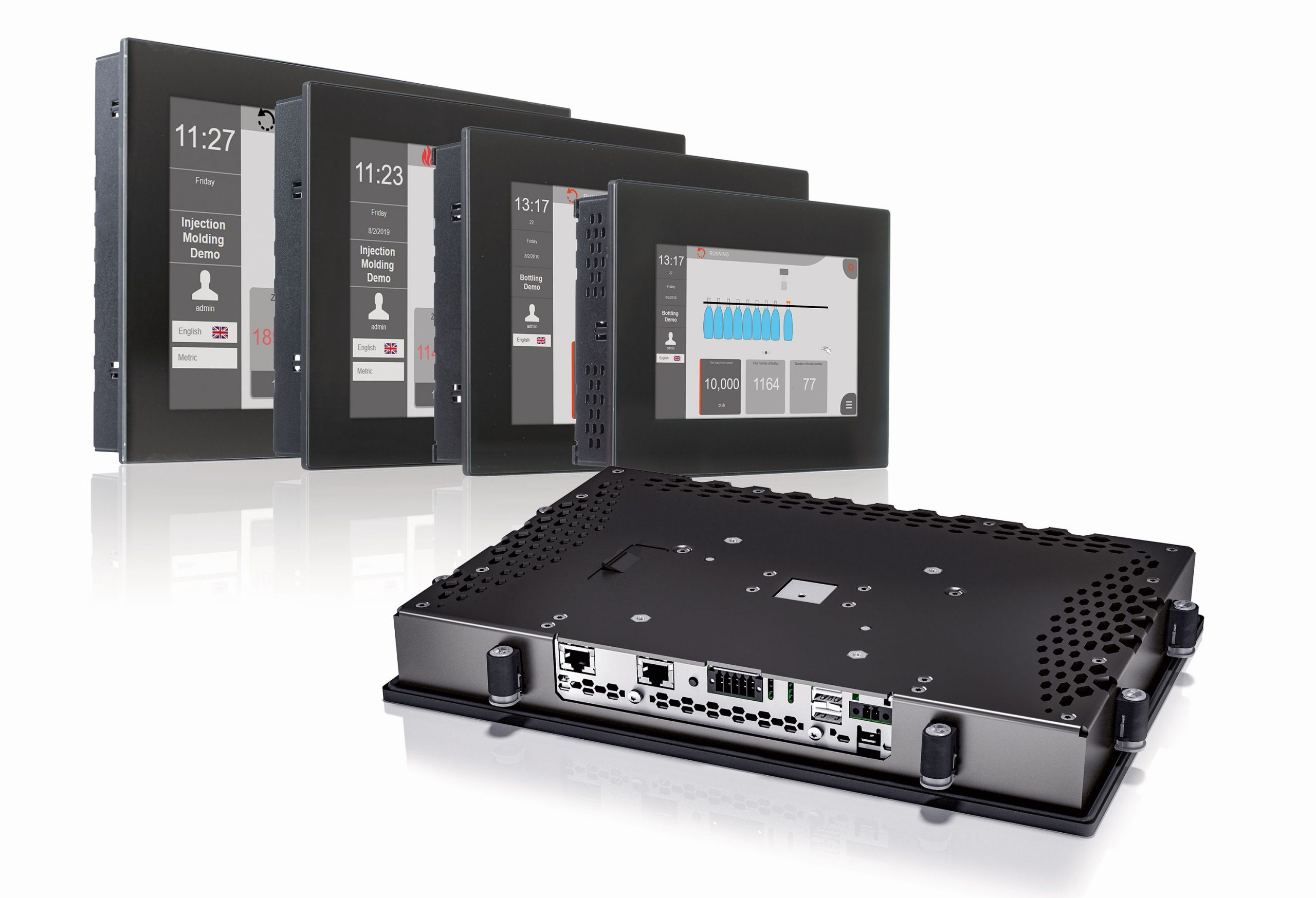 Multitouch-Bediengerät für einfache und schnelle Inbetriebnahme