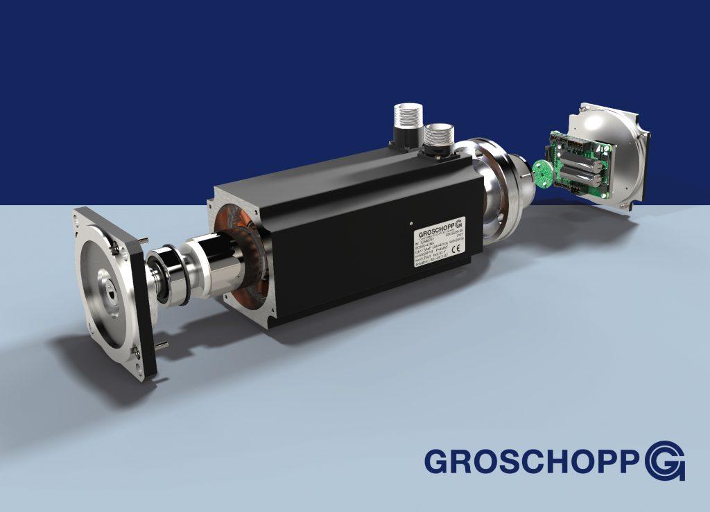 Durch Verbesserungen bei den aktiven Kernelementen und dem Einsatz einer speziellen Wickeltechnik erreicht der EGK80-40 gegenüber herkömmlichen Servomotoren eine höhere Leistungsdichte.