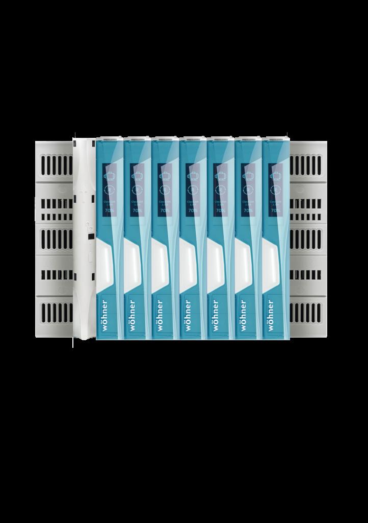 Die Produktserie ist mit einer CrossLink-Schnittstelle ausgerüstet und somit in allen Wöhner-Basissystemen einsetzbar.