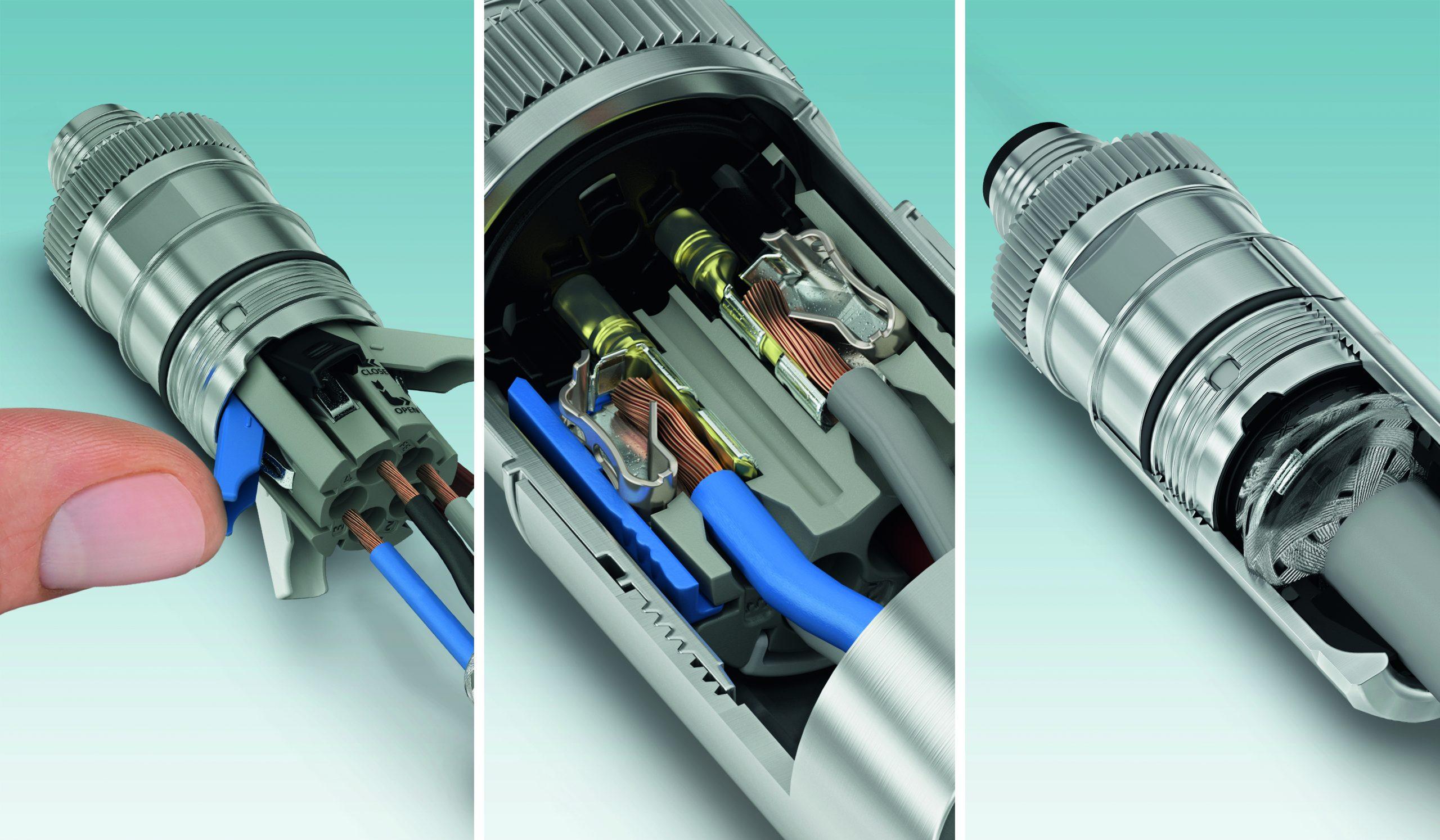 Push-Lock-Anschlusstechnik für M12 Power