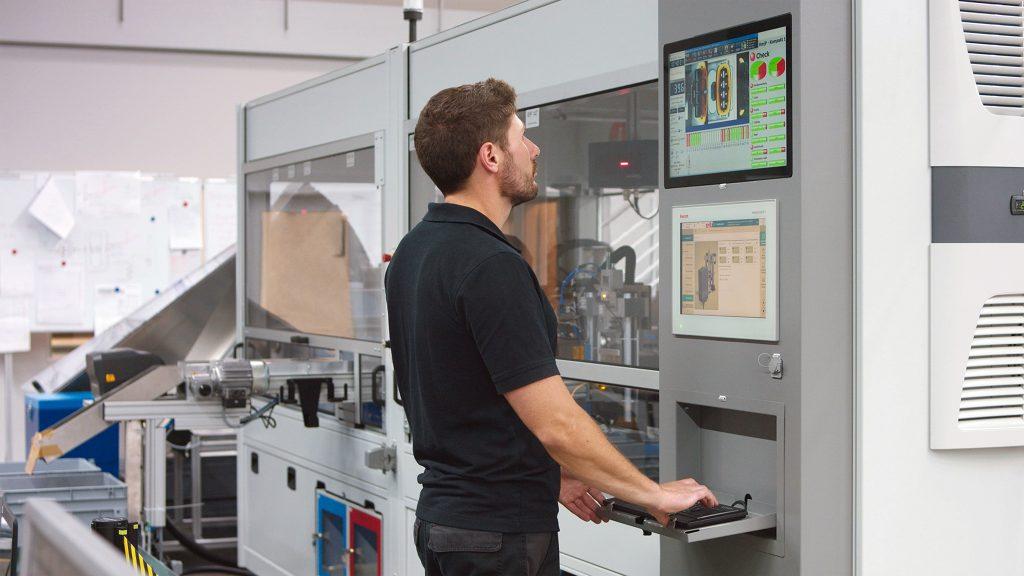 Mit Nexeed Automation lässt sich die Montageanlage von Eberhard intuitiv bedienen.