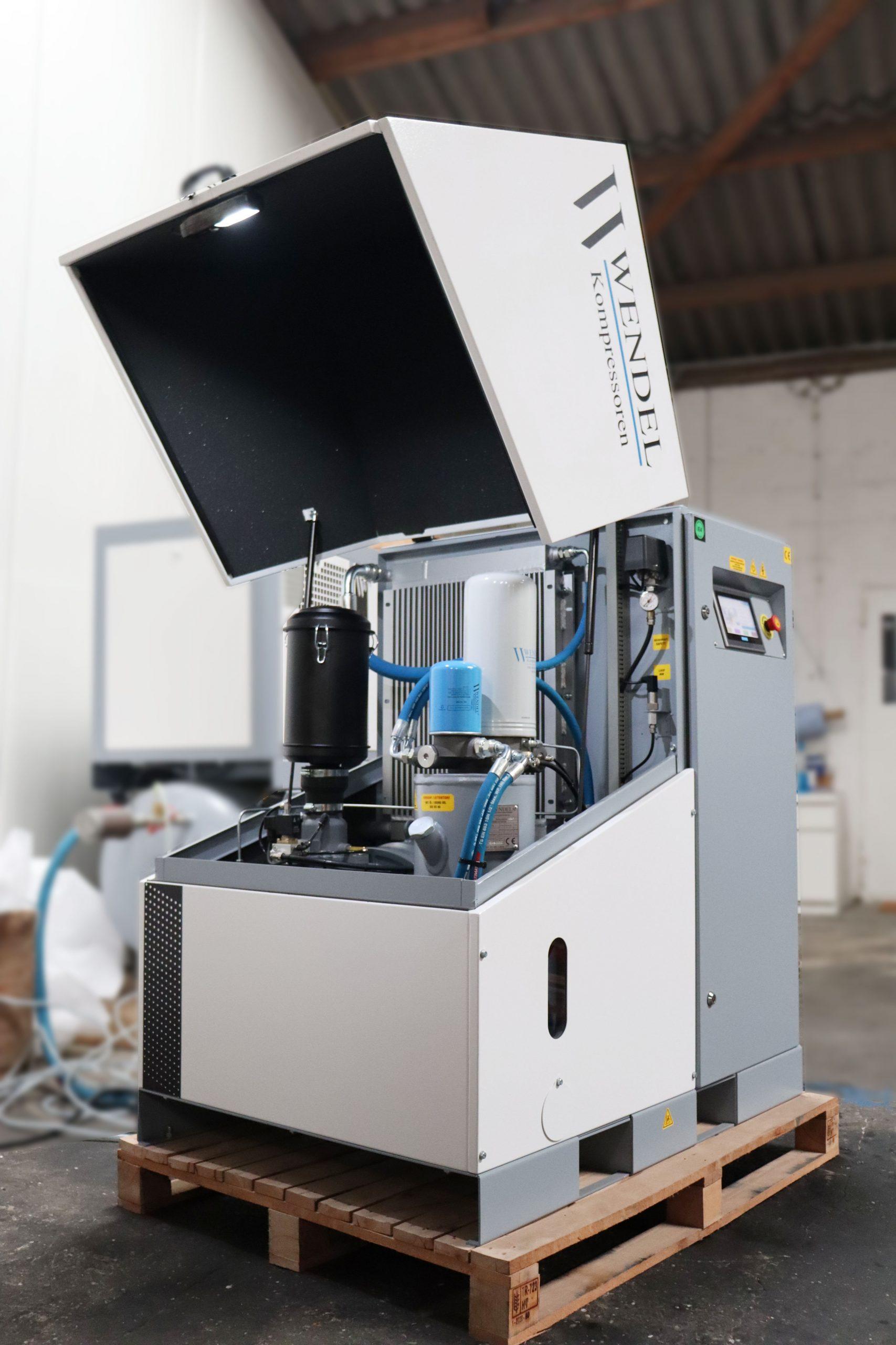 Im Servokompressor integriertes Steuerungssystem
