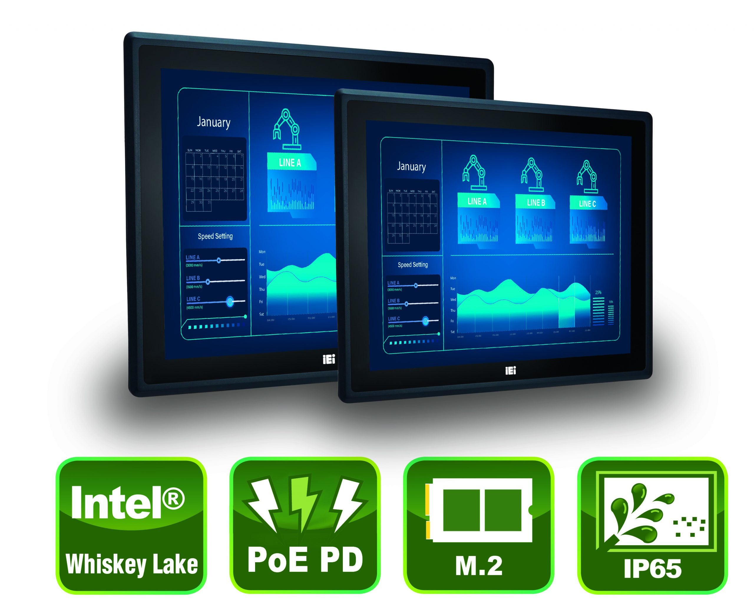 IP65-Panel-PCs auch als Widescreens