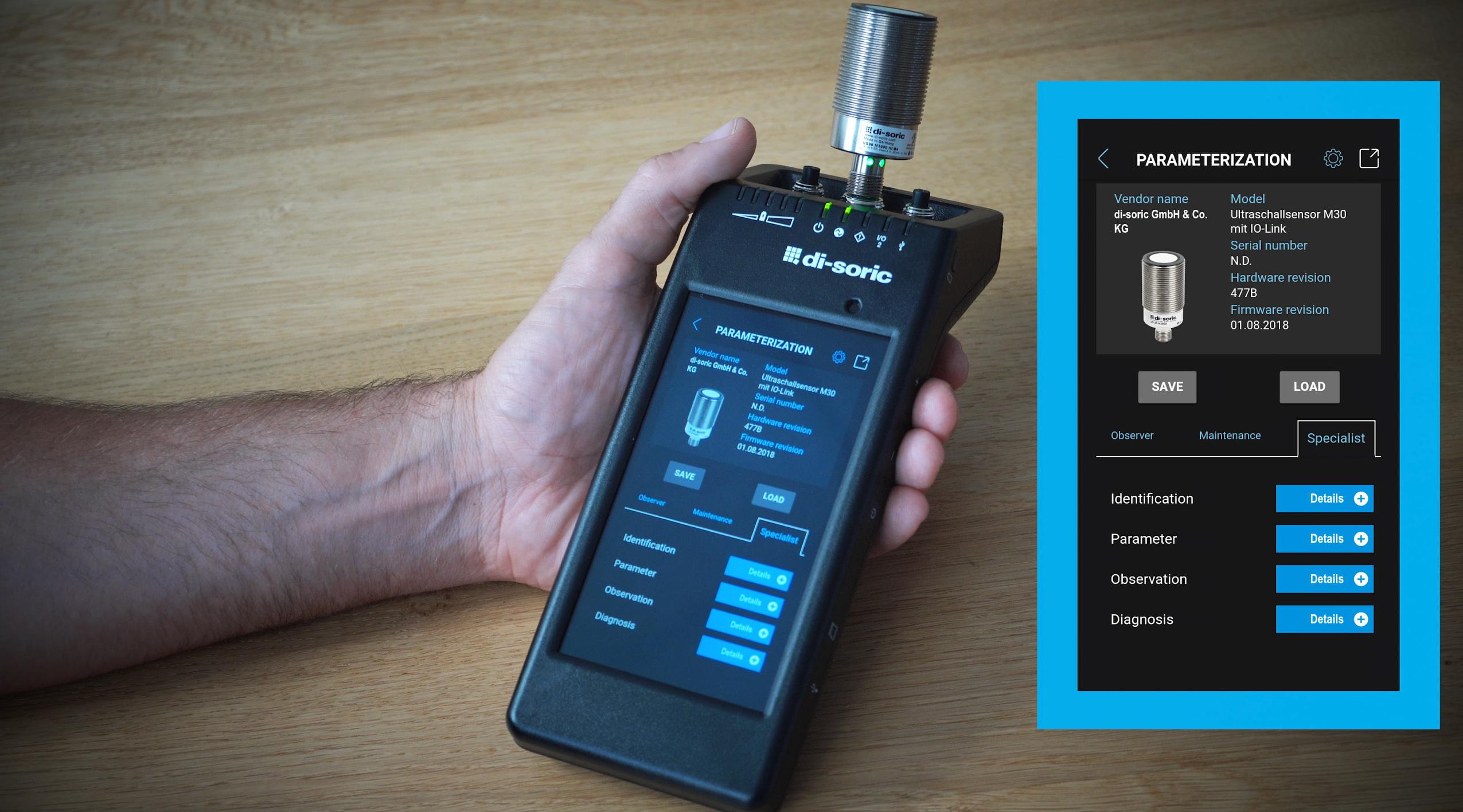 Mobiler IO-Link-Tester