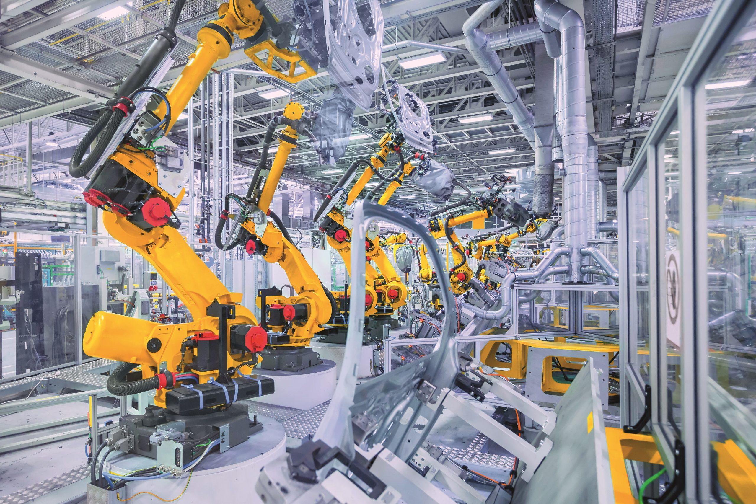 Profinet-Leitungenan Robotern