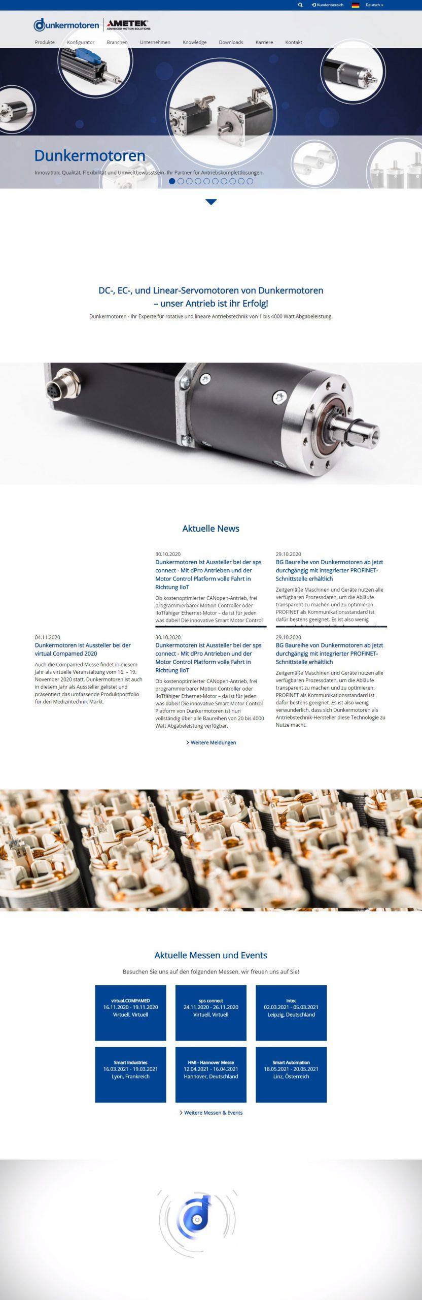 Neue Website von Dunkermotoren