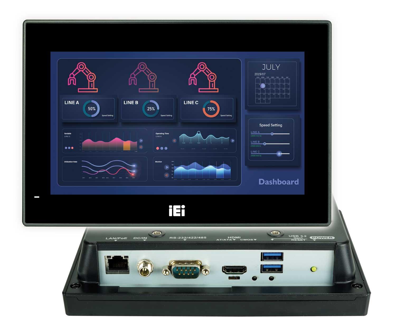 Lüfterloser IP65-Panel-PC mit PoE+
