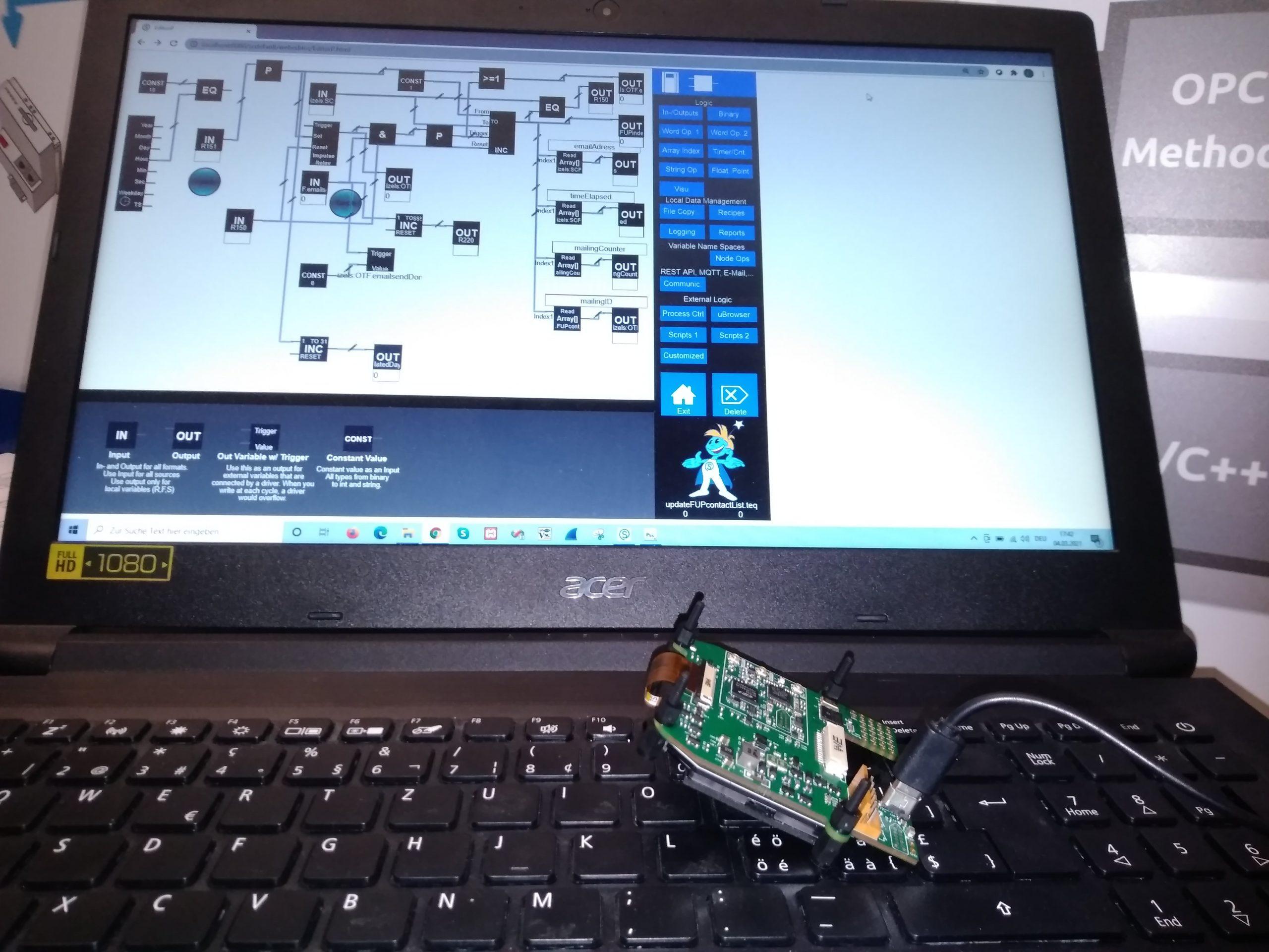 Visualisierung über abgesetzten Rechner