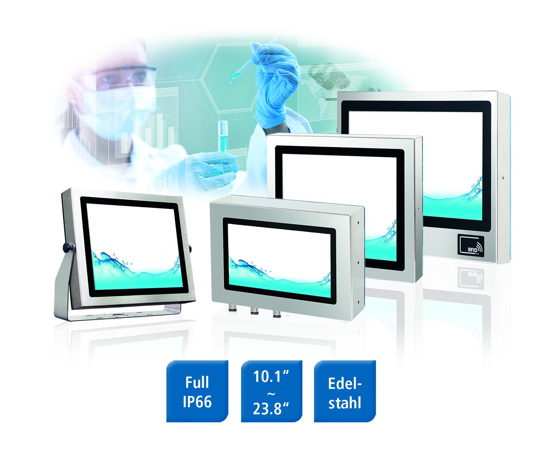 Monitore für hygienekritische Anwendungen