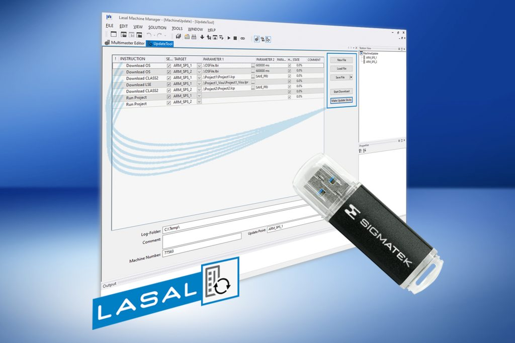 Programmänderungen, die Ablauf, Visualisierung und Regelung betreffen, können mit dem Update Tool der Lasal-Software gesammelt auf einer komfortablen Oberfläche durchgeführt werden.