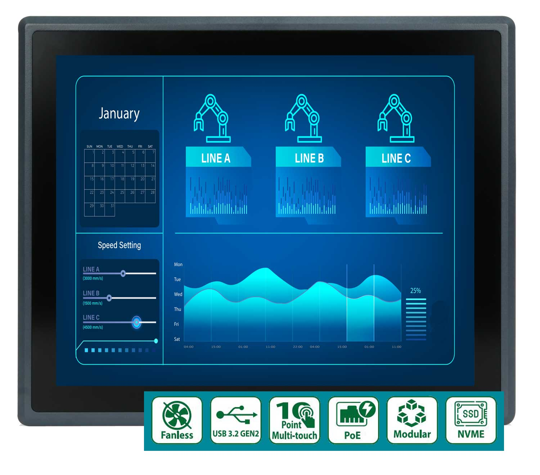 Panel-PC mit frontseitigem IP66-Schutz