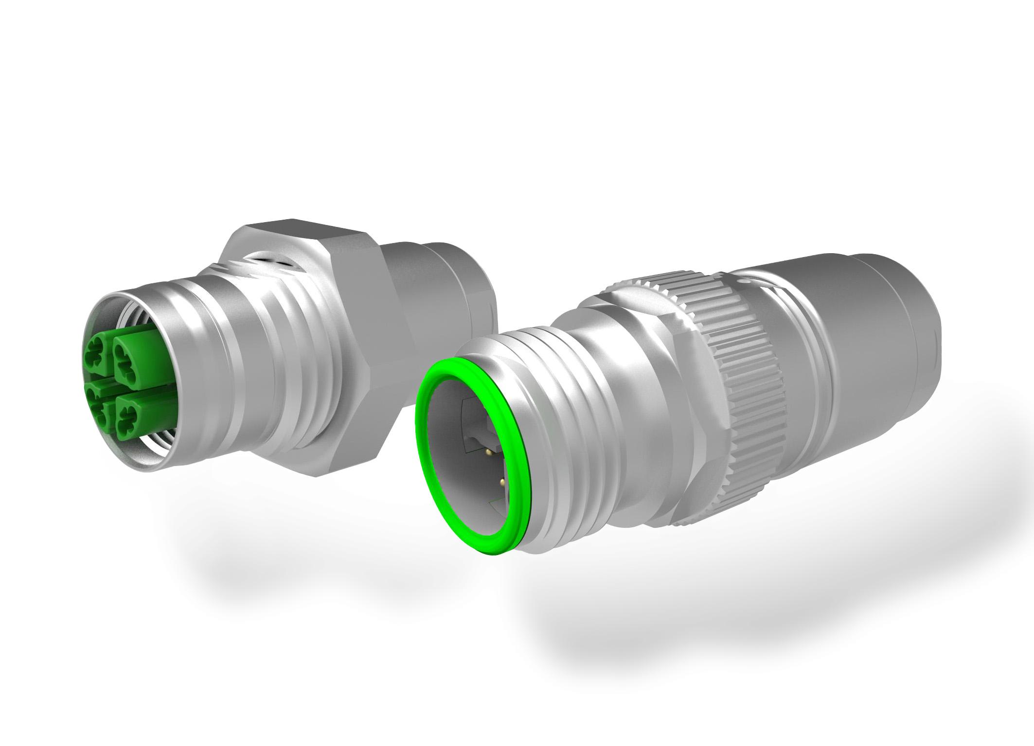 Robuste M12-Kabelstecker