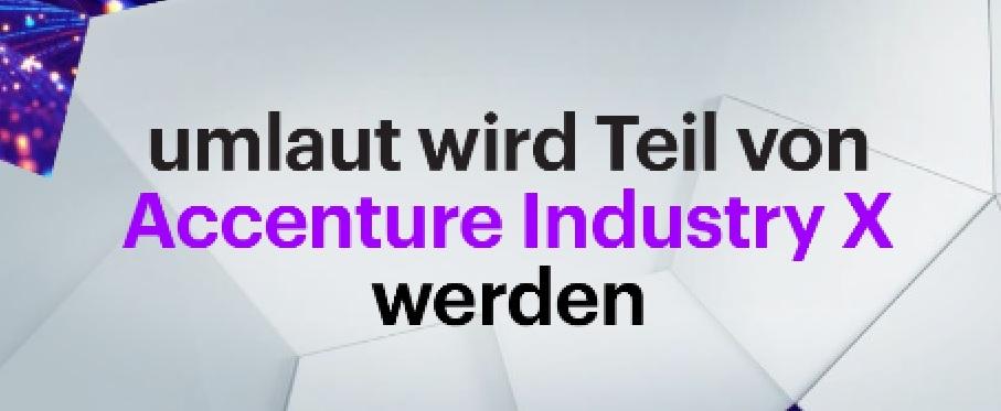 Accenture kauft das Unternehmen Umlaut
