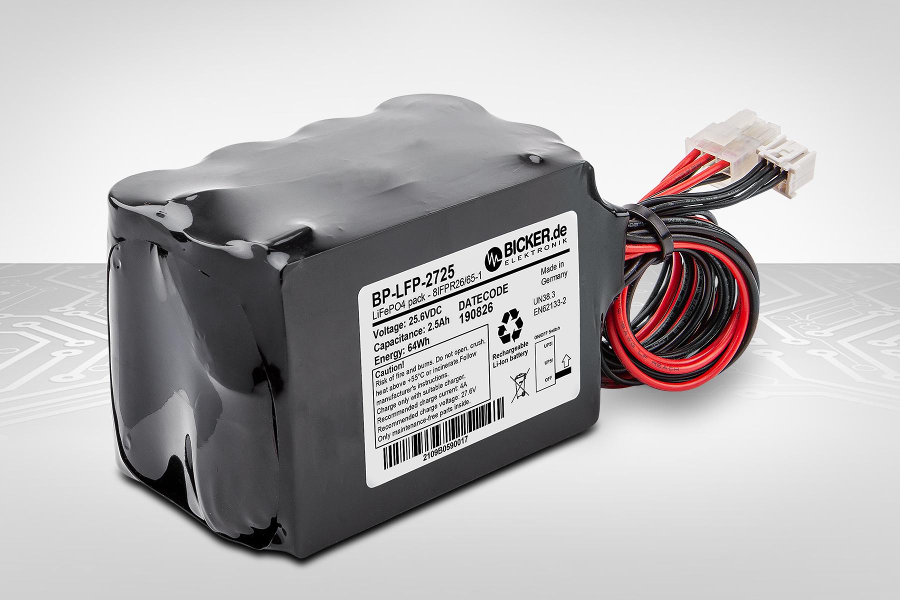 Batteriepack für Industrie und Medizintechnik