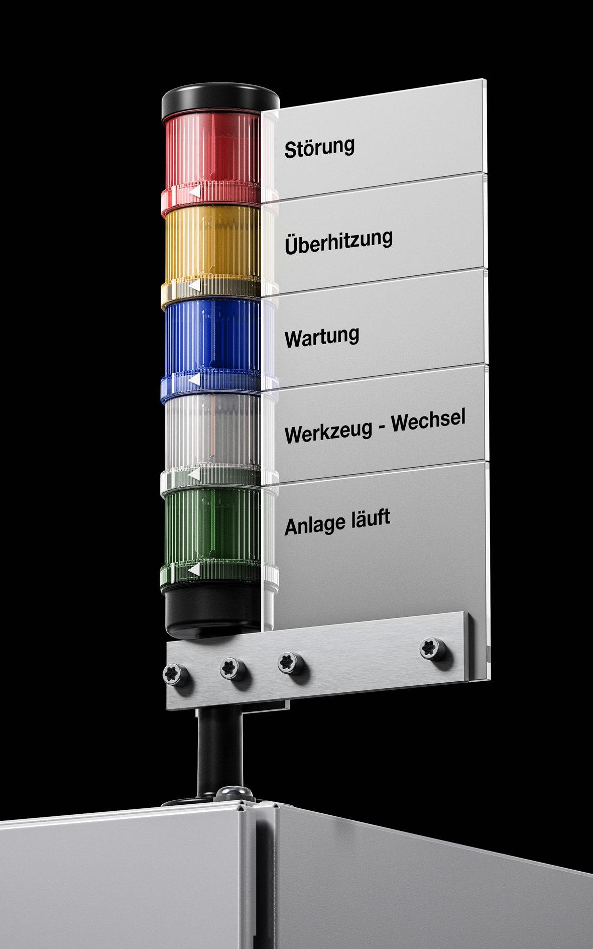Modulare und anschlussfertige LED-Signalsäulen