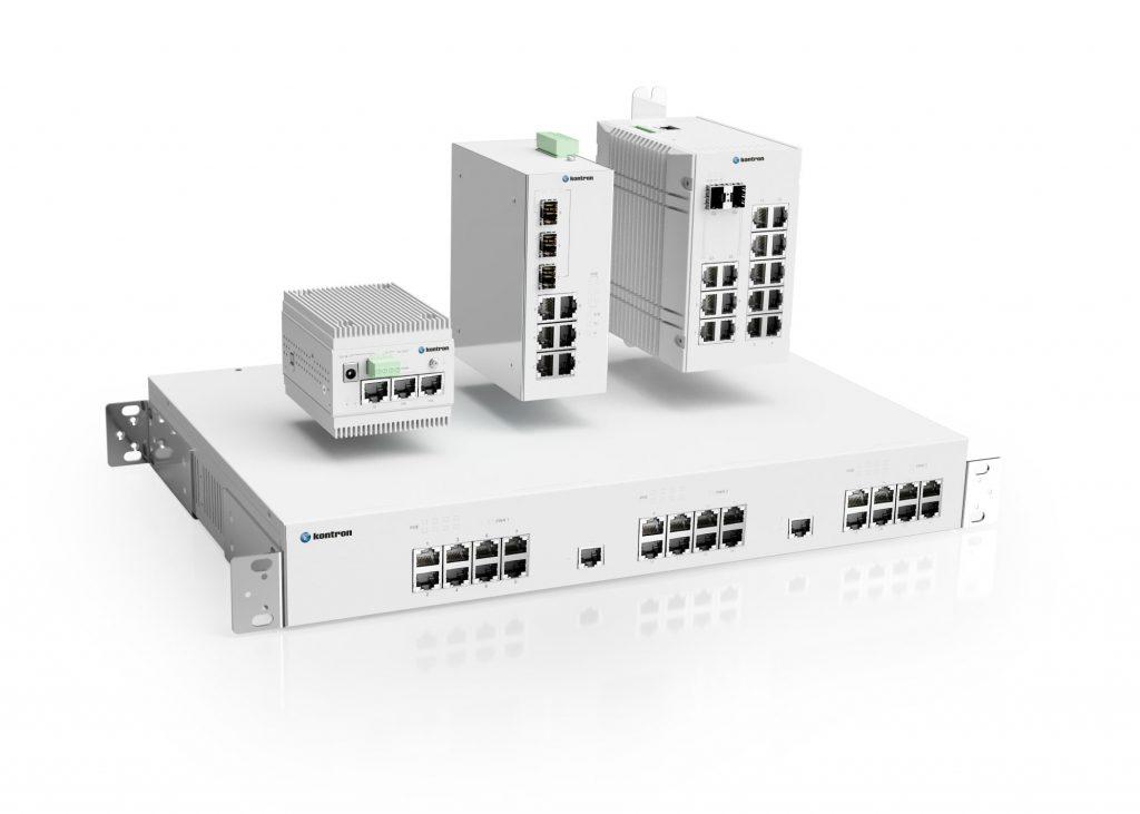 Die Switches von Kontron sind für Fast-, GBit- und künftig auch bis 10G-GBit-Netze erhältlich.