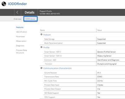 IODDfinder um Übersichtsfunktion erweitert