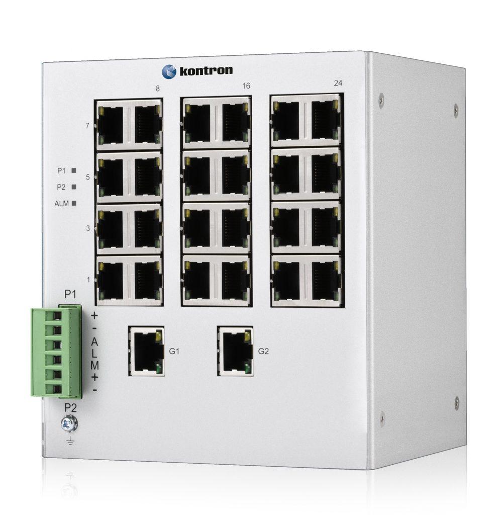 """Der RES2404-PTP ist ein managed, rugged 19"""" Hochleistungs-Switch mit Power over Ethernet."""