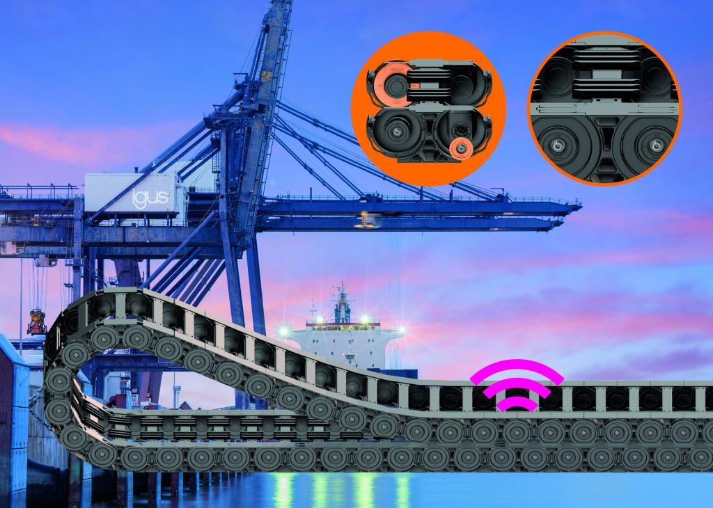 Die Heavy-Duty-Rollenenergiekette P4HD besteht aus hochabriebfesten Materialien.