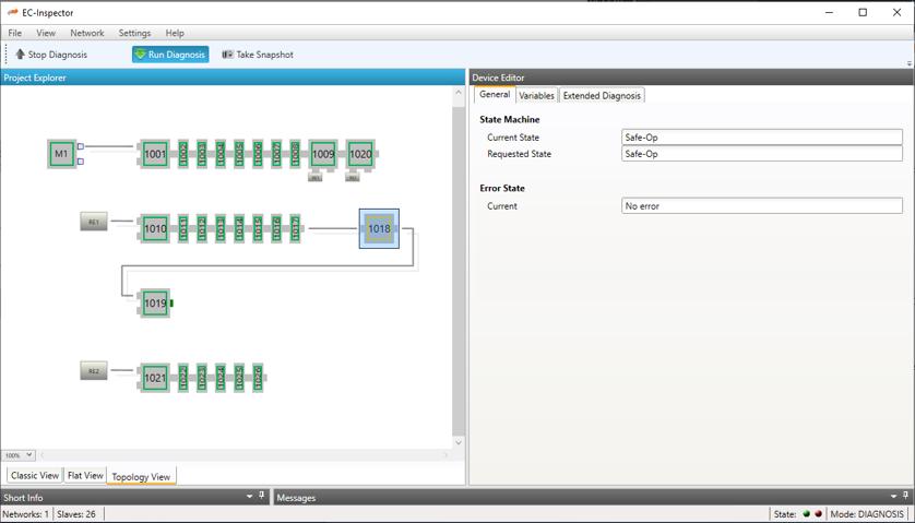 Monitoring Tool für Ethercat-Netzwerke