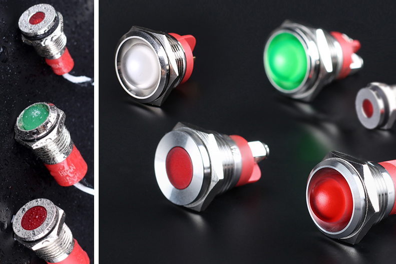 Robuste Signallampen für den Fronteinbau