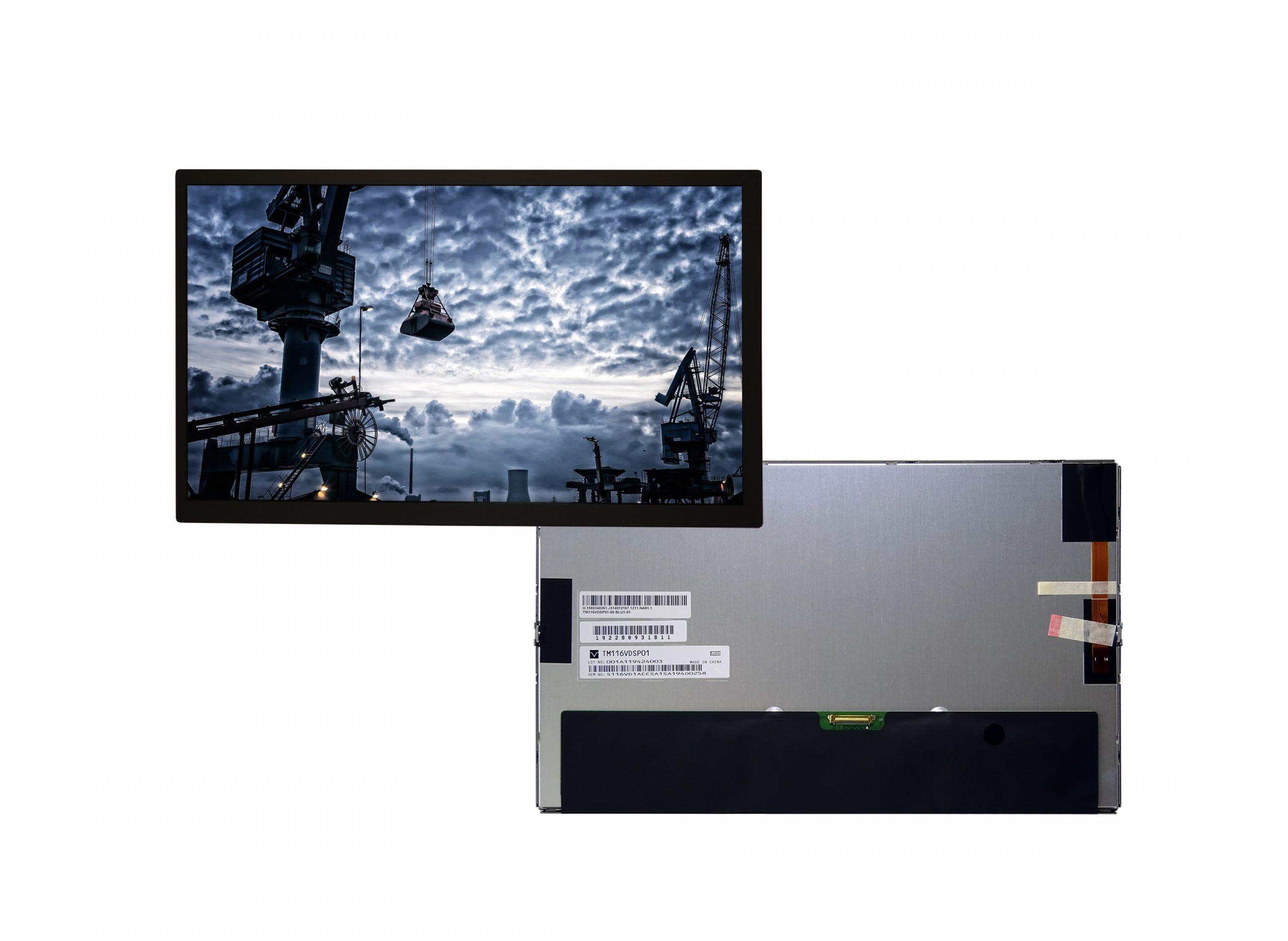 Robustes 11,6″-TFT-Display für Industrie und Digital Signage