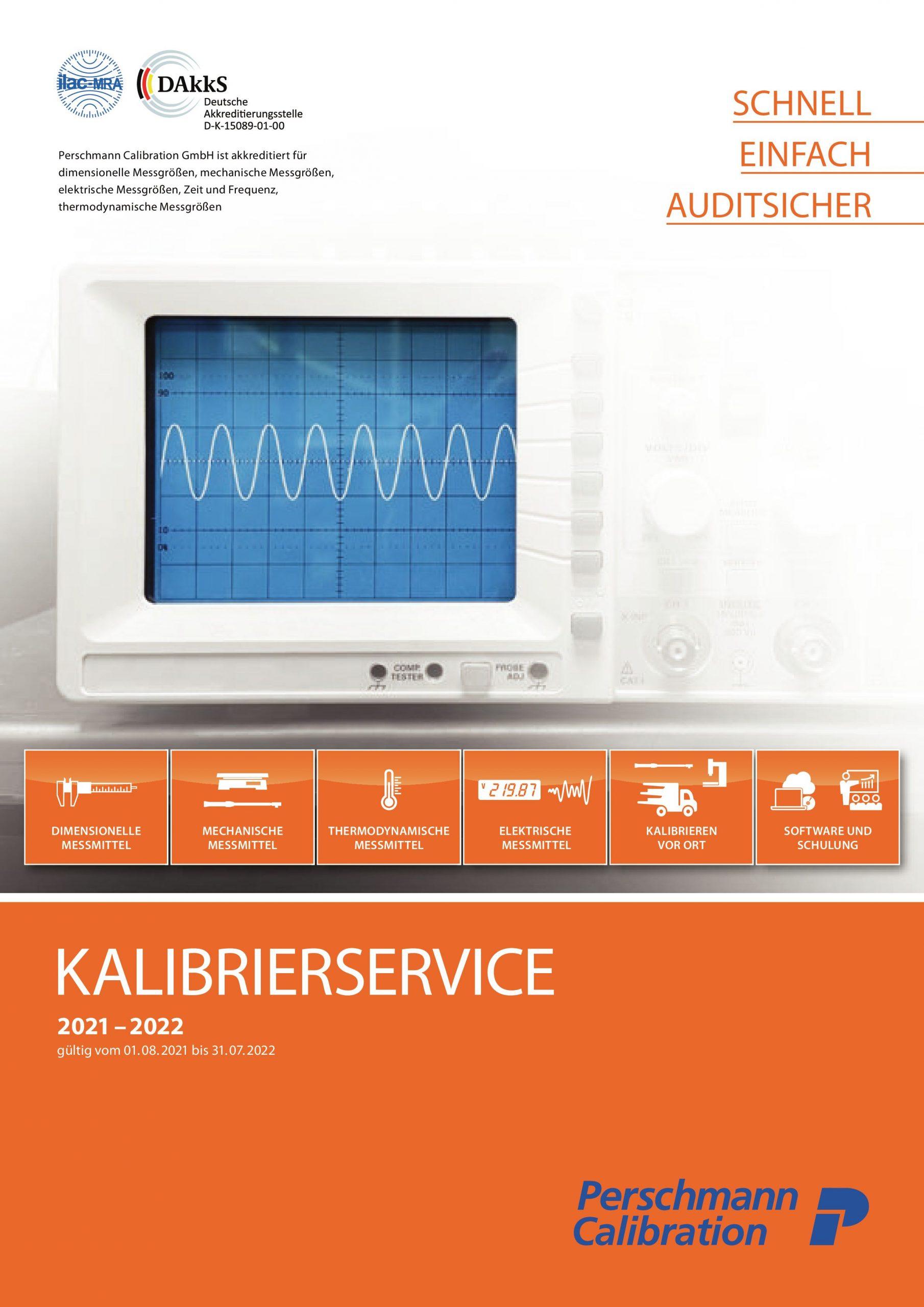 Qualitätsmanagement: Neuer Katalog Kalibrierservice