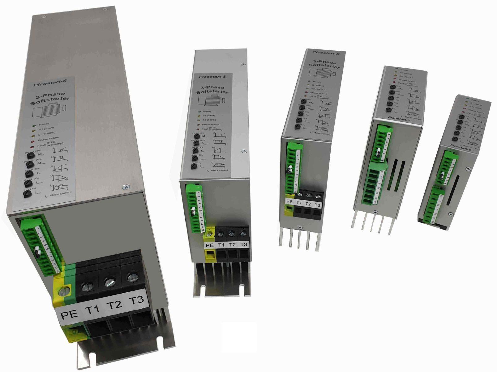 Elektronisches Sanftanlaufgerät mit integrierter Strombegrenzung