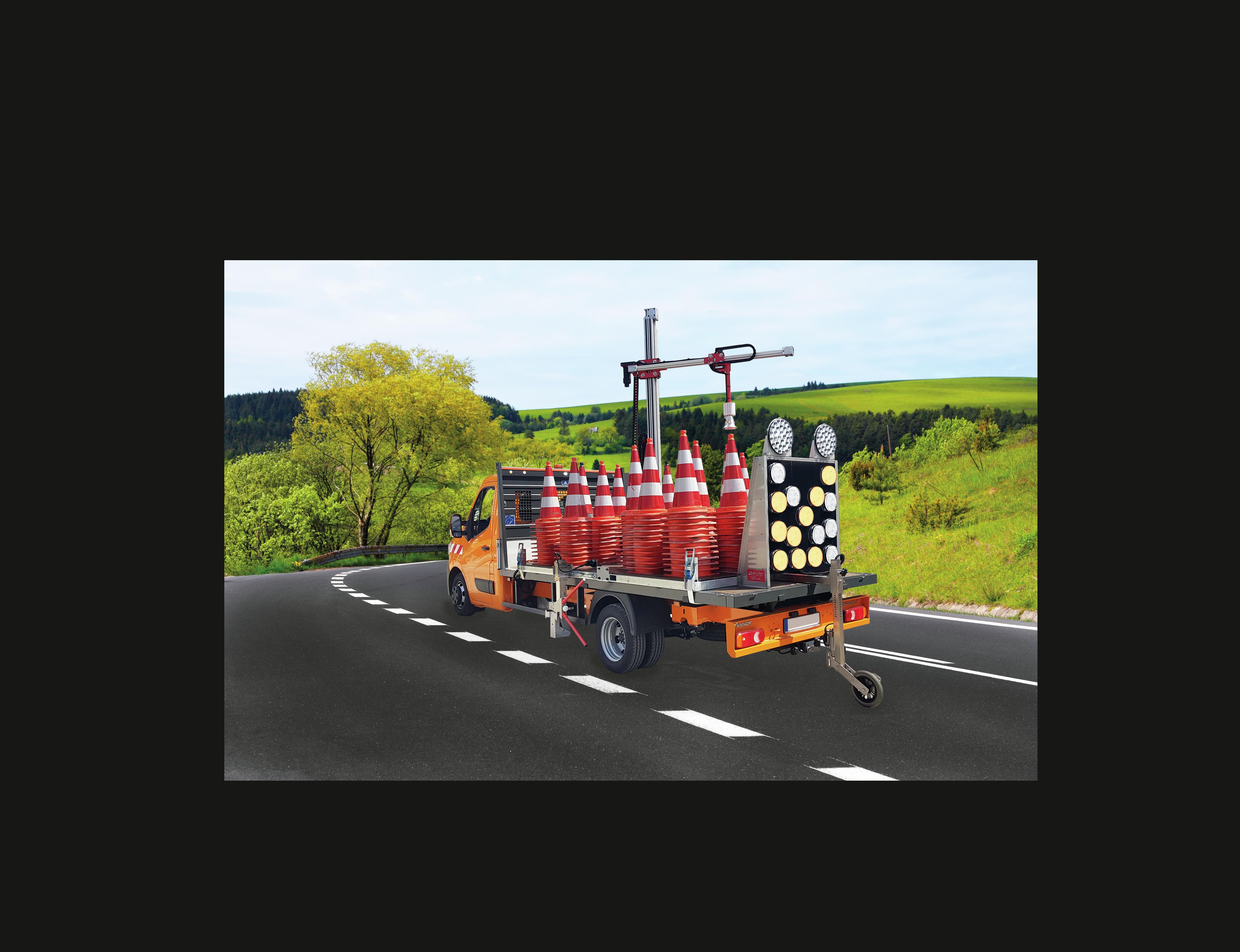 Visualisierung vereinfacht Verkehrsabsicherung