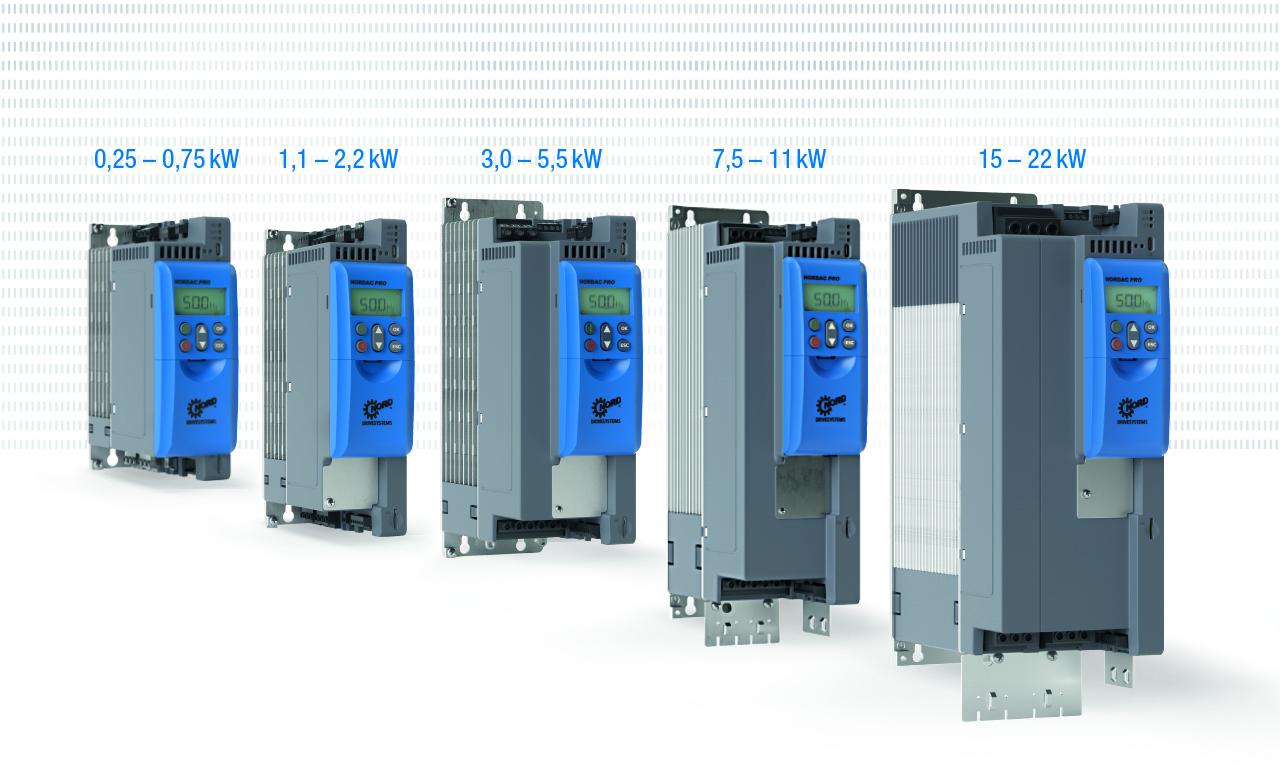 Frequenzumrichter mit erweitertem Leistungsbereich
